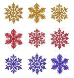 Diverse sneeuwvlokken Stock Foto