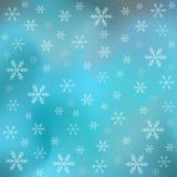 Diverse sneeuwvlokken op blauwe achtergrond Royalty-vrije Stock Afbeelding