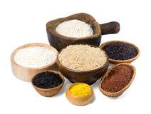 Diverse soorten rijst Royalty-vrije Stock Fotografie