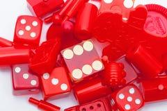 Diverse spelstukken Stock Fotografie