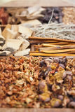 Diverse spices in Asia Royalty Free Stock Photos