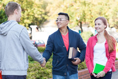 Diverse student camp Royalty Free Stock Images