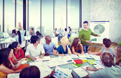 Diverse Students Learning from the Professor Royalty Free Stock Photo