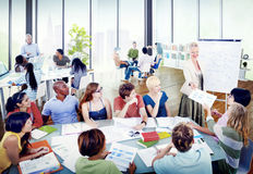 Diverse Students Learning from the Professor Royalty Free Stock Images