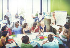 Diverse Students Learning from the Professor Royalty Free Stock Image