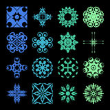 Diverse styles of Art Deco Style Symbol Sets. Original Pattern a Royalty Free Stock Photos