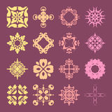 Diverse styles of Art Deco Style Symbol Sets. Original Pattern a Stock Images