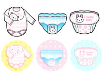 Diverse styles of Diape and Panties, Sets. Baby and Children Goo Royalty Free Stock Photo