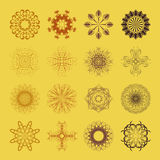 Diverse styles of Flower and Plant Symbol Sets. Original Pattern Stock Image