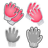 Diverse styles of Gloves Sets. Industrial market Items Vector Ic Royalty Free Stock Image