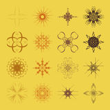 Diverse styles of  Grid Symbol Sets. Original Pattern and Symbol Royalty Free Stock Photography