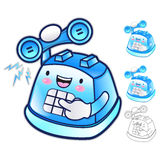 Diverse styles of Phone Mascot Sets. Appliances Items Character Royalty Free Stock Photos