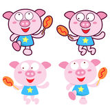 Diverse styles of Pig Mascot Sets. Animal Character Design Serie Stock Images