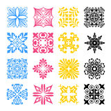 Diverse styles of square back Symbol Sets. Original Pattern and Stock Photos