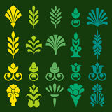 Diverse styles of square back Symbol Sets Royalty Free Stock Photos
