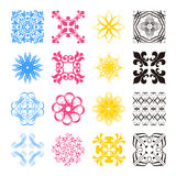 Diverse styles of square back Symbol Sets. Original Pattern and Royalty Free Stock Image
