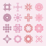 Diverse styles of square back Symbol Sets. Original Pattern and Stock Photo