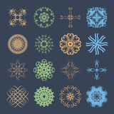 Diverse styles of Wave Symbol Sets. Original Pattern and Symbol Royalty Free Stock Photo