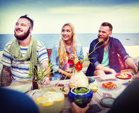 Diverse Summer Beach Party Roof Top Fun Concept Royalty Free Stock Image
