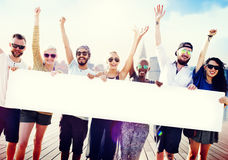 Diverse Summer Friends Fun Copy Space Concept Royalty Free Stock Photo