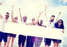 Diverse Summer Friends Fun Copy Space Concept Stock Images