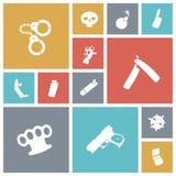 Diverse symboler för plan design Fotografering för Bildbyråer
