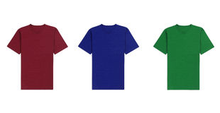 Diverse t-shirts op witte achtergrond Stock Afbeeldingen