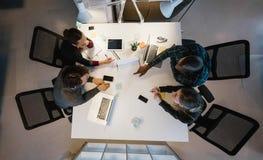 Diverse team analyzing data Stock Photos