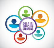 Diverse team brainstorming concept illustration Royalty Free Stock Photography
