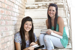 Diverse Teen Girls at School Royalty Free Stock Images