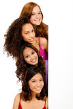 Diverse Teenagers with Blank Sign Royalty Free Stock Images