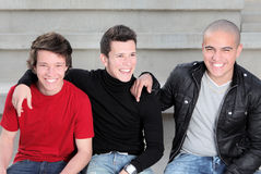 Diverse teens boys. Diverse group of teens, teenagers youth kids or boys Royalty Free Stock Images