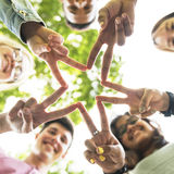 Diverse Teens Hands Star Concept Stock Image