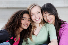 Diverse teens kids. Diverse group of teens, teenagers youth kids or girls Royalty Free Stock Images