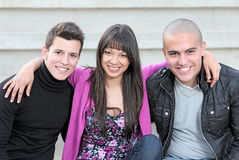 Diverse teens kids Royalty Free Stock Photography