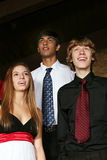 Diverse teens singing Royalty Free Stock Photo