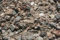 Diverse textuur van kiezelsteenstenen Stock Fotografie