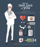 Is diverse toepassingen van artsencharacter design and het dek e Stock Afbeeldingen