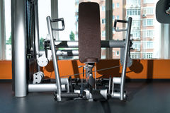 Diverse training equipment at the gym room Stock Images