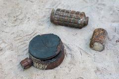 Diverse types van bommen royalty-vrije stock fotografie