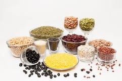 Diverse types van bonen. Royalty-vrije Stock Foto's