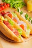 Diverse types van sandwiches Stock Afbeelding