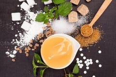 Diverse types van suiker royalty-vrije stock foto