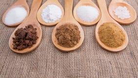 Diverse Types van Suiker III Stock Foto