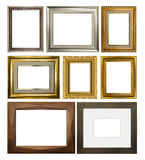 Diverse Uitstekende rechthoekige kaders op witte achtergrond Royalty-vrije Stock Afbeeldingen