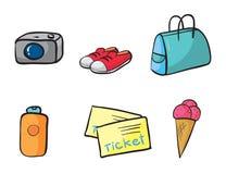 Diverse vakantievoorwerpen Royalty-vrije Stock Afbeelding