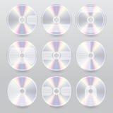 Diverse van de blustraal van CD dvd de dekkingsontwerpen Royalty-vrije Stock Fotografie