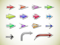 Diverse vectorpijlen Royalty-vrije Stock Fotografie