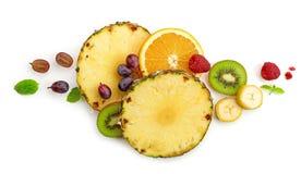 Diverse vers fruitplakken Stock Fotografie