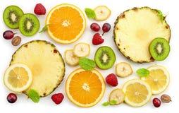 Diverse vers fruitplakken Stock Foto's